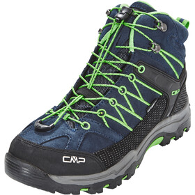 CMP Campagnolo Rigel WP Mid Trekking Shoes Kids, black blue/gecko